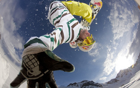sports, sky, snow, boy