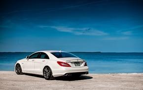 белый, cls63, amg, Mercedes-benz, автомобили