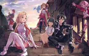 anime, Yui, MHCP001, Shinozaki Rika, Sword Art Online, Tsuboi Ryoutarou