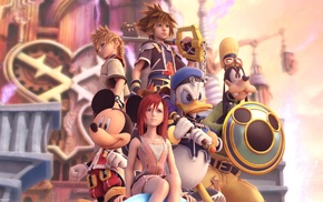 keys, Donald, Mickey Mouse, Goofy, Sora Kingdom Hearts, video games