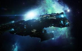 fantasy art, spaceship, StarCraft, science fiction