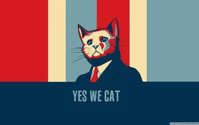Hope posters, Barack Obama, humor, cat