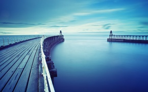 lighthouse, water, sky, sea, horizon