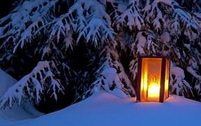winter, snow, fir-tree