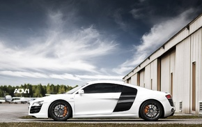 cars, white, Audi, supercar