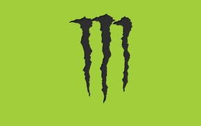 Monster Energy, simple background, logo
