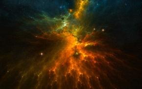космос, туманность, звезды