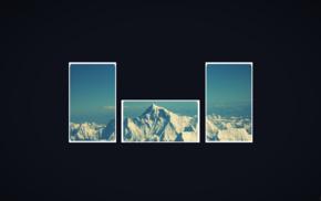 простой фон, горы