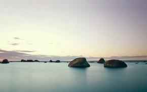 stones, sea, seals, landscape, nature