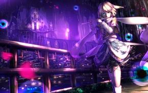castle, anime girls, anime, Mizuhashi Parsee, Touhou, flute