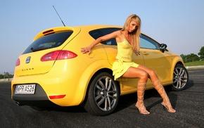девушка, Леон, автомобили
