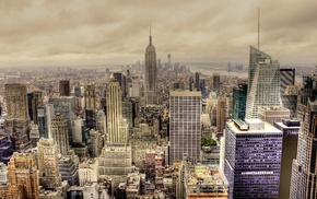 Empire State Building, USA, New York City, building, HDR, cityscape