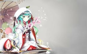 Vocaloid, Yuki Miku, anime girls, Hatsune Miku, traditional clothing