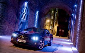 Chevrolet, evening, lights, cars, auto