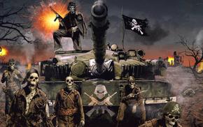 music, flag, war, tank