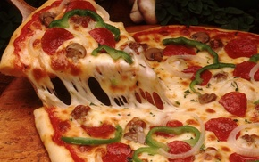 food, cheese, pizzas
