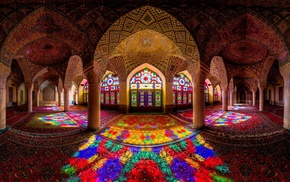 colorful, arch, detailed, Islamic architecture, architecture, Iran