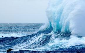 beach, waves