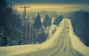 дорога, снег, зима