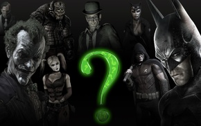 Harley Quinn, Batman Arkham City, Killer Croc, Two, Face, The Riddler