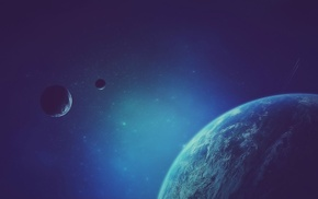 galaxy, fantasy art, planet, stars, artwork, space