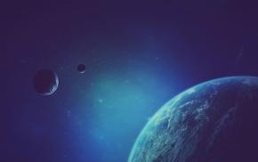 галактика, фантастическое исскуство, планета, звезды, произведение искусства