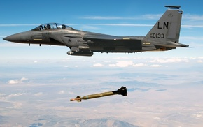 bombs, airplane, F, 15 Eagle, military aircraft, jets