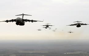 Boeing C, 17 Globemaster III, jets, military aircraft, airplane