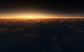 sunset, Sun, sky, stunner