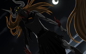 crescent moon, Vasto Lorde, glowing eyes, Hollow, Bleach, Kurosaki Ichigo