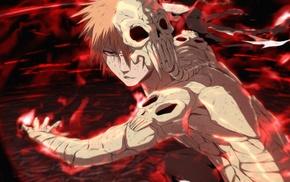 skull, anime boys, Kurosaki Ichigo, anime, hell, Bleach