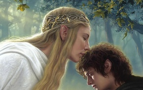 Galadriel, fantasy art, The Lord of the Rings, Elijah Wood, Cate Blanchett, Frodo Baggins