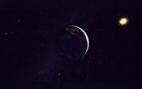 материки, свет, солнце, бесконечность, звезды, земля