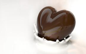 heart, chocolate, 3D