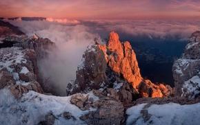 mountain, nature, winter, snow, Ukraine