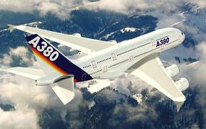 земля, большой, авиация, аэробус, Airbus, самолёт
