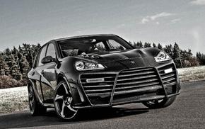 gray, Porsche, background, cars, wheels