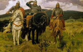 horse, painting, stunner, sky