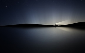 black, stars, night, minimalism, sky