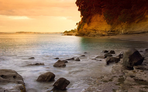 stones, sea, surf, rock, nature