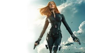 actress, gun, Scarlett Johansson, movies
