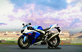 sky, sports, bike, motorcycles, blue