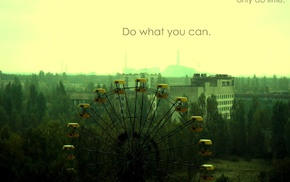 ferris wheel, filter, Chernobyl