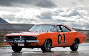 orange cars, vehicle, Dodge Charger, car, General Lee