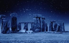 stone, sky, England, stars, photo