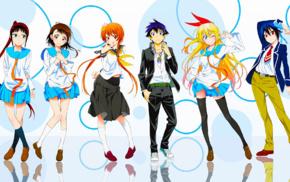Onodera Kosaki, Nisekoi, school uniform, Tsugumi Seishirou, Ichijou Raku, Kirisaki Chitoge