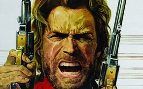 Clint Eastwood, drawing, western, movies, The Outlaw Josey Wales