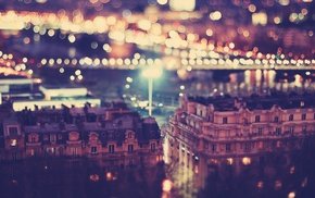 city, urban, lights, bokeh, night, cityscape