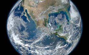Земля, планета, НАСА, космос, фото
