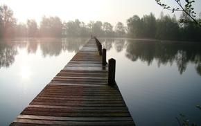 fishing, pond, super, lake, people